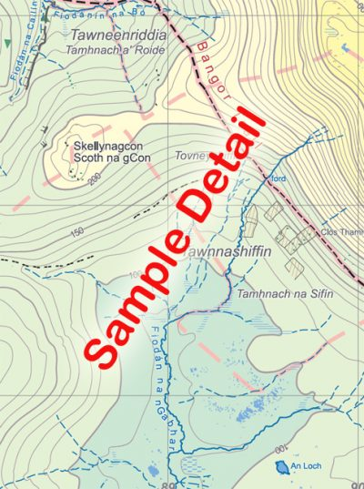 Sample detail from the Wild Nephin Map published by EastWest Mapping.