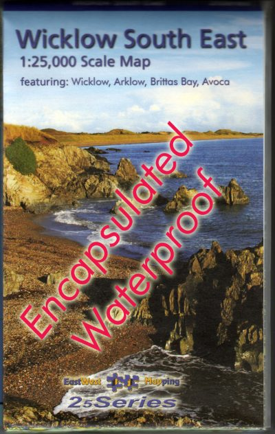 The cover of the 25 Series Wicklow South East Map published by EastWest Mapping.