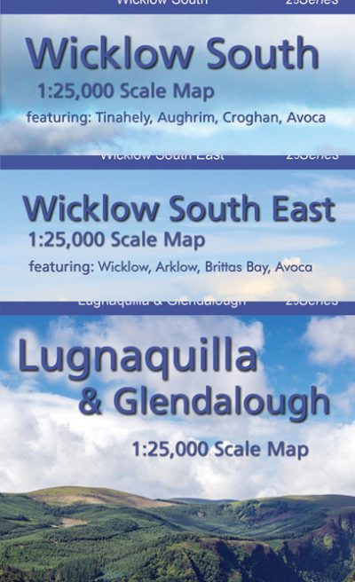Set of Three South Wicklow Maps published by EastWest Mapping.