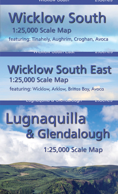 Set of Three 1:25,000 South Wicklow Maps Paper
