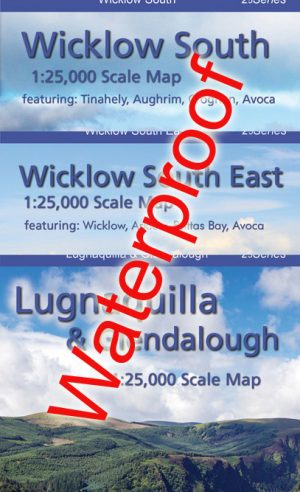 Set of Three 1:25,000 South Wicklow Maps Encapsulated