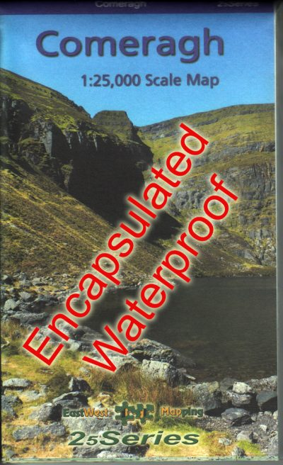 An encapsulated Comeragh 1:25,000 Scale Map from the 25 Series published by EastWest Mapping.