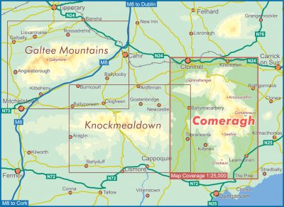 Comeragh Map Coverage
