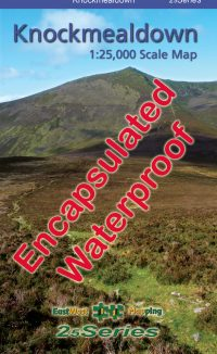 Cover of the encapsulated waterproof map of Knockmealdown published by EastWest Mapping.
