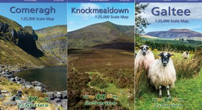 A set of three South East maps published by EastWest Mapping including the Comeragh, Knockmealdown and Galtee Mountains.