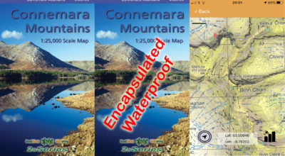 A set of maps of the Connemara Mountains published by East West Mapping.