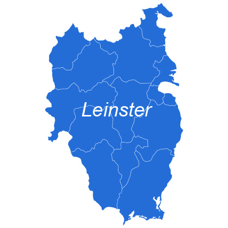 The Leinster shop page for the EastWest Mapping website