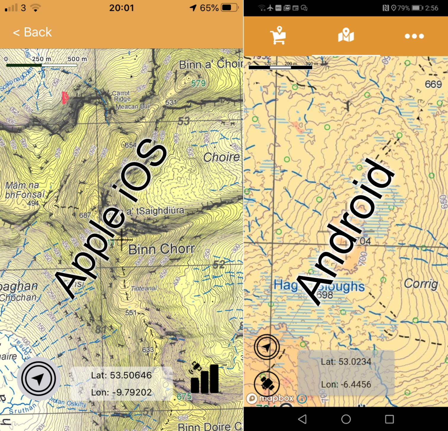 EastWest Maps Android Update