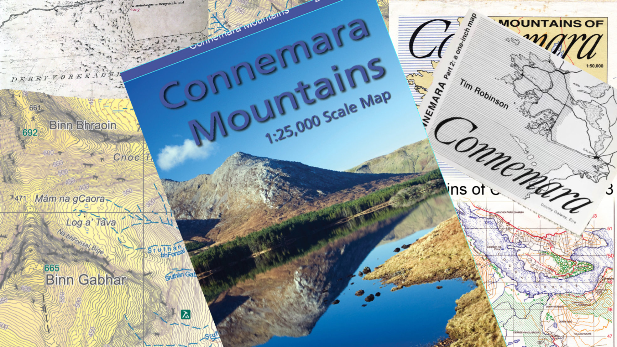 Placenames on Connemara Mountains Map