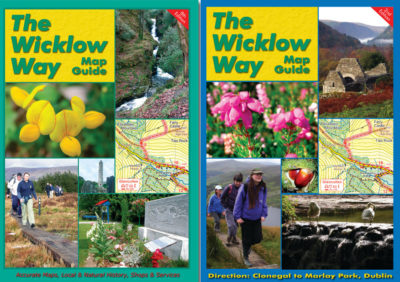 The Wicklow Way Map Guide leading from Clonegal to Marlay Park and from Marlay Park to Clonegal.