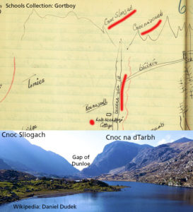 Read more about the article Reeks Placenames 6: Cnoc Sliogach & Cnoc na dTarbh